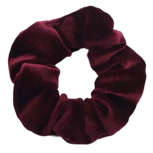 Velvet scrunchie bordeauxrood